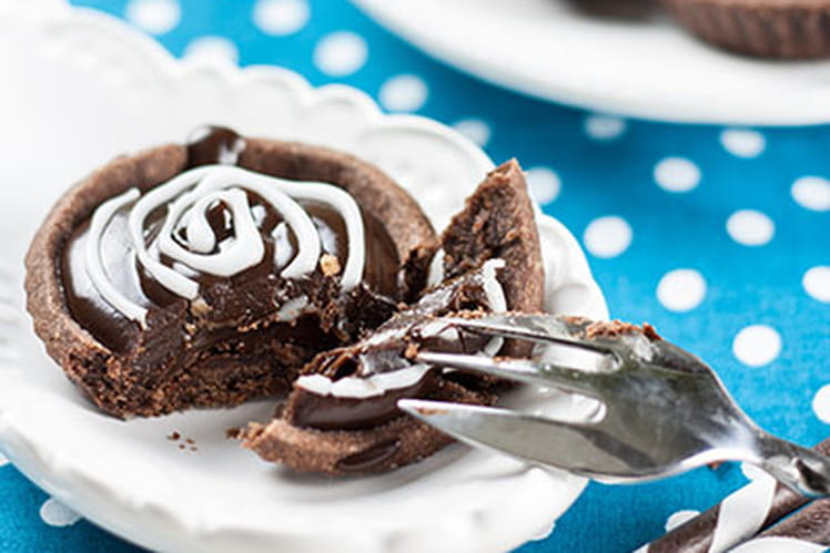 Tartelettes à la ganache chocolat/caramel