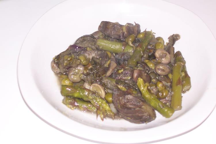Fricassée de légumes verts