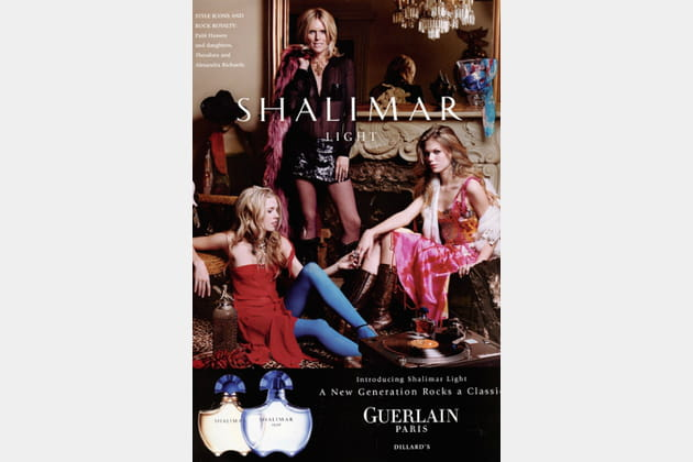 Patti Hansen et ses filles Alexandra Richards et Theodora Richards