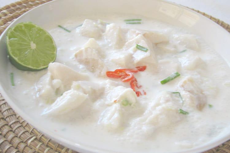 Poisson cru mariné lait de coco et citron vert