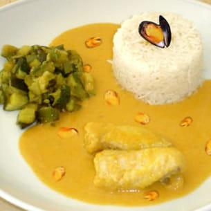 curry de lotte aux moules