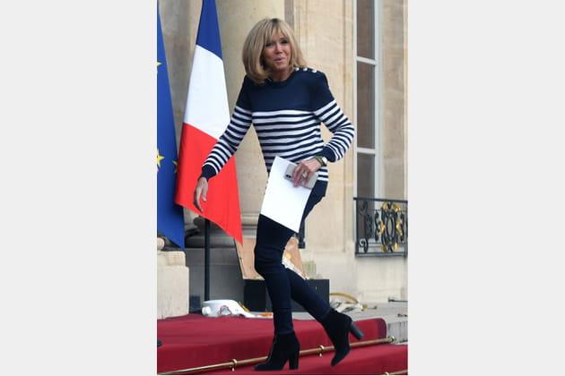 Brigitte Macron le 11avril 2018