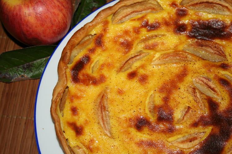 Tarte aux pommes façon alsacienne