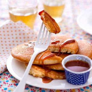 pancakes au caramel et beurre salé