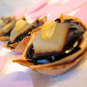 bouchées poire chocolat à la fève tonka