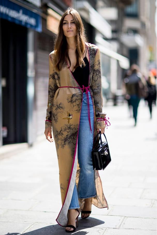 Street style à Paris : le néo kimono