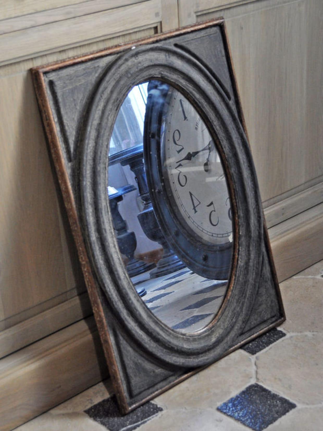 le miroir en bois vieilli. Black Bedroom Furniture Sets. Home Design Ideas