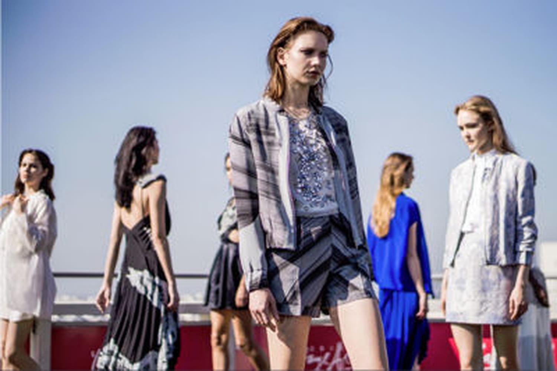 Fashion week: Christine Phung défile sur la terrasse des Galeries Lafayette