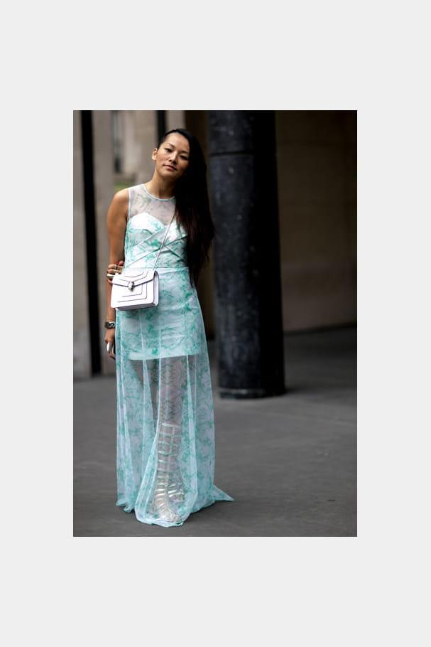 Street looks fashion week haute couture : vestale
