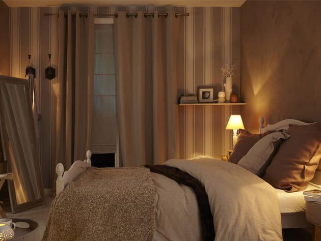 Des couleurs neutres et douces pour la chambre
