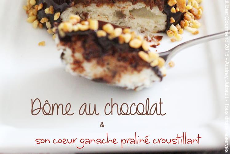 Dôme au chocolat et son coeur croustillant praliné