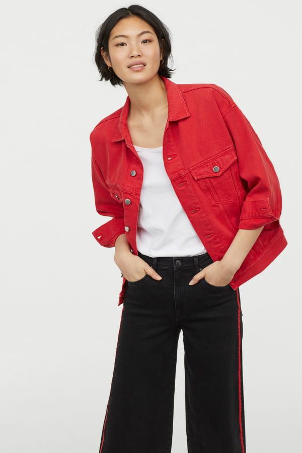 meilleure sélection 8198c b1691 Veste en jean rouge de H&M