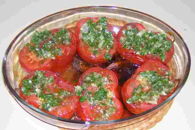 Tomates au lard