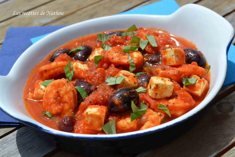 Crevettes ou gambas à la grecque