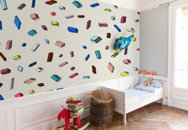 papier peint carlton par bien fait. Black Bedroom Furniture Sets. Home Design Ideas