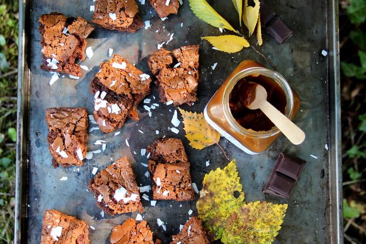 Moelleux au chocolat sans gluten et crème de caramel au beurre salé