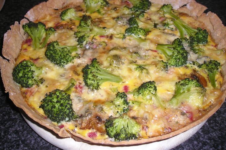Quiche aux brocolis et gorgonzola