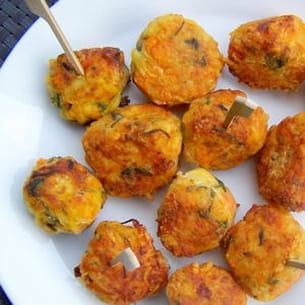 bouchées saveur carottes, pommes de terre & comté