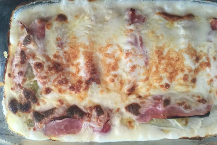 Endives au jambon gourmandes - Cuisiner endives au jambon ...