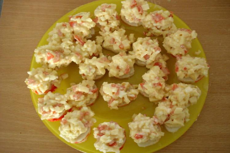 Médaillon de surimi aux pommes