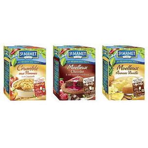 crumble aux pommes, moelleux chocolat nappage framboise et moelleux