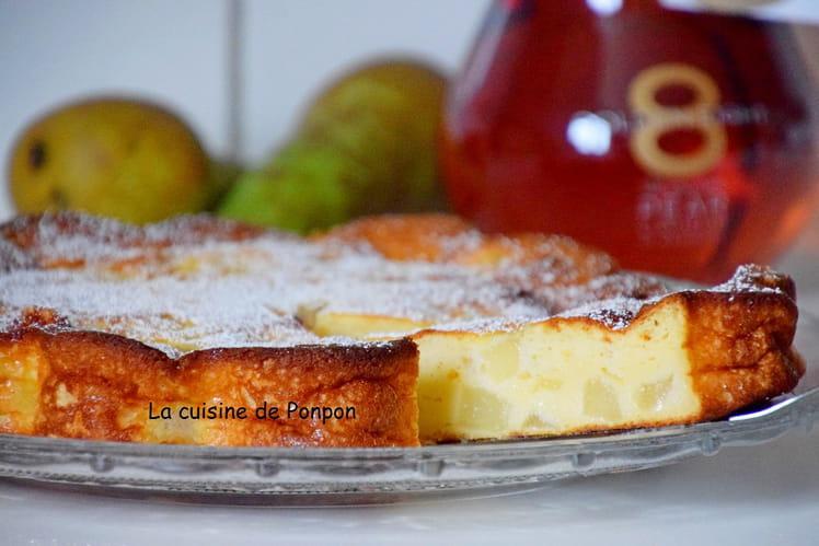 Gâteau à la ricotta et poires, sans farine et sans beurre