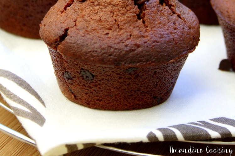 Muffins au chocolat et pépites