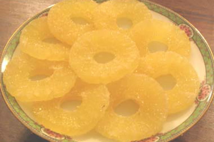 Ananas confit et givré