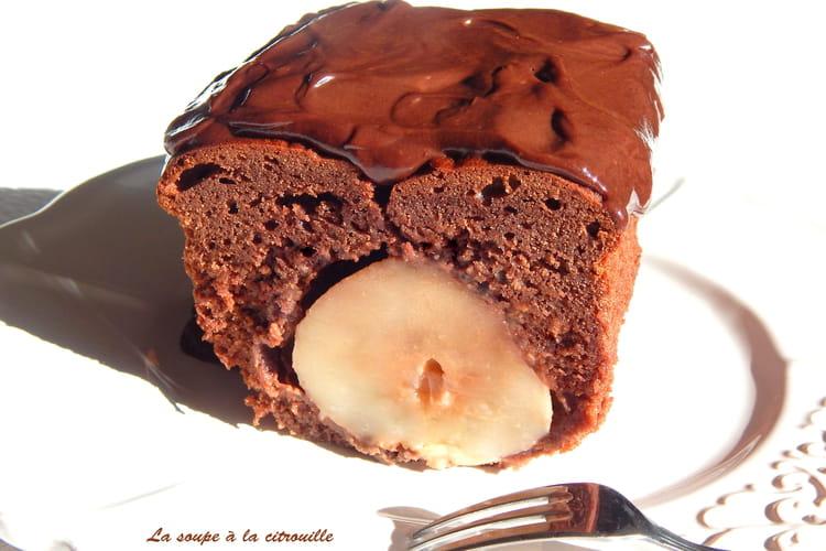 Cake surprise chocolat et poire