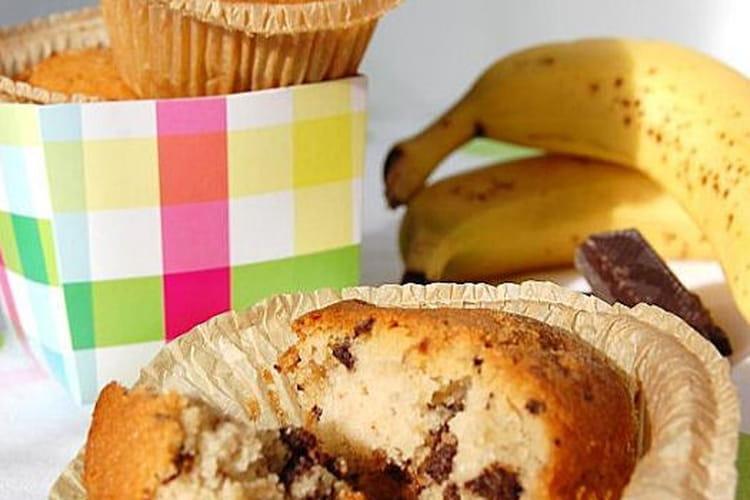 Muffins banane, amande et pépites de chocolat