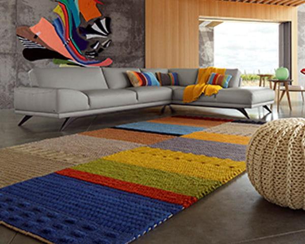tapis tricotin design corinne hellein roche bobois michel gibert - Tapis Roche Bobois