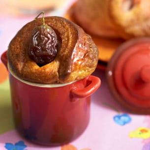 bouchon brioché à la rose et aux fruits