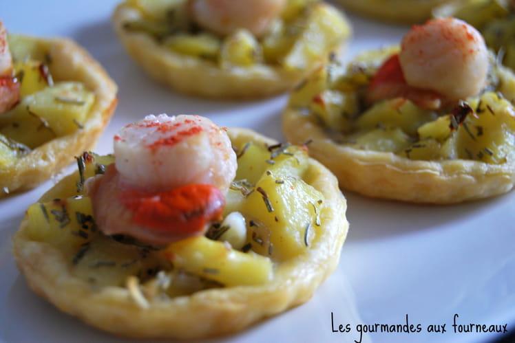Tartelettes noix de St Jacques et pommes de terre