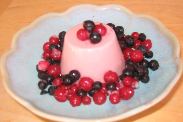 Mini bavarois aux fruits rouges