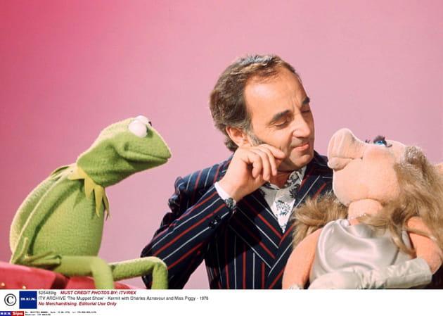 Avec Kermit et Miss Piggy en 1976