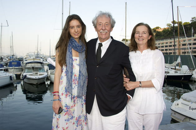Avec sa femme Françoise et sa fille Clémence