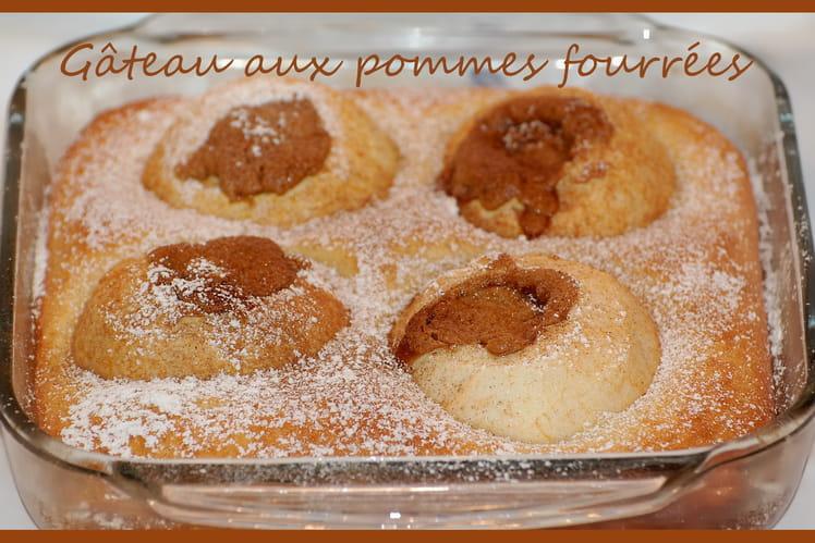 Gâteau aux pommes fourrées