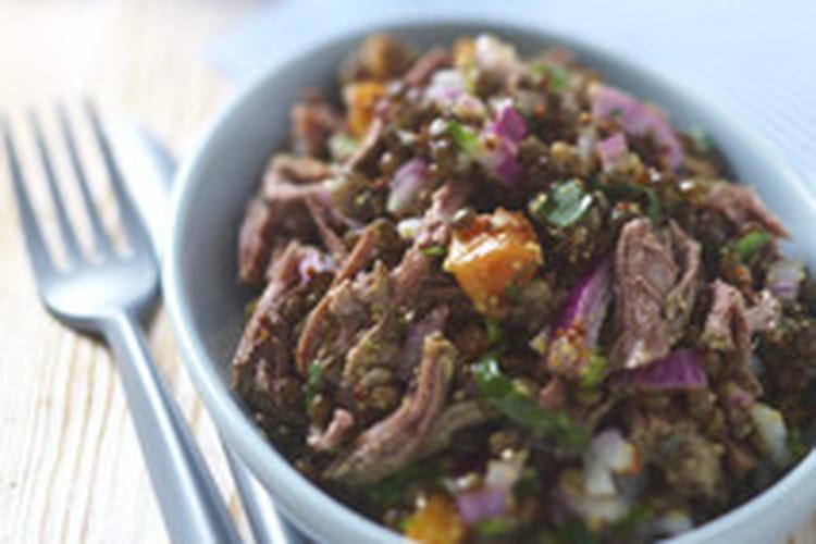 Salade de bœuf aux lentilles