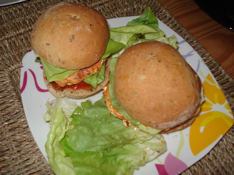 Recette de hamburger maison au saumon la recette facile - Recette hamburger maison ...