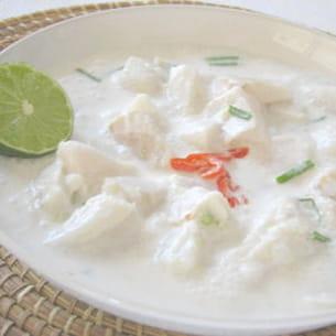 poisson cru mariné au lait de coco