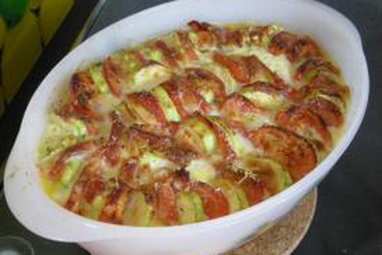 Clafoutis tomates, courgettes et mozarella