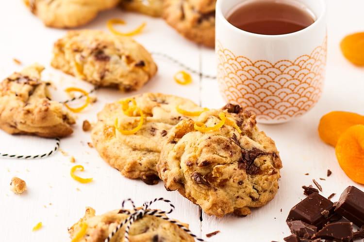 Cookies moelleux au chocolat, orange et abricot