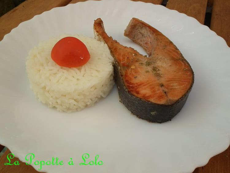 Recette de darnes de saumon la plancha la recette facile - Cuisiner darne de saumon ...