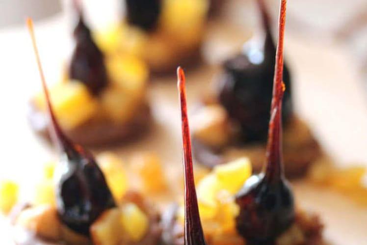 Florentins aux noisettes et oranges confites