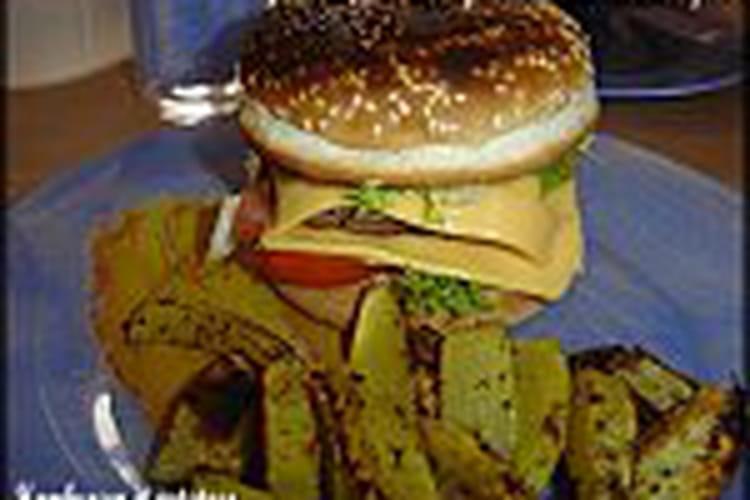 Hamburgers et potatoes