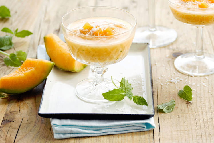 Sorbet Melon et Alpro Coco Original