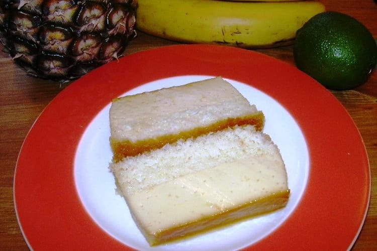 Gâteau à la noix de coco et caramel