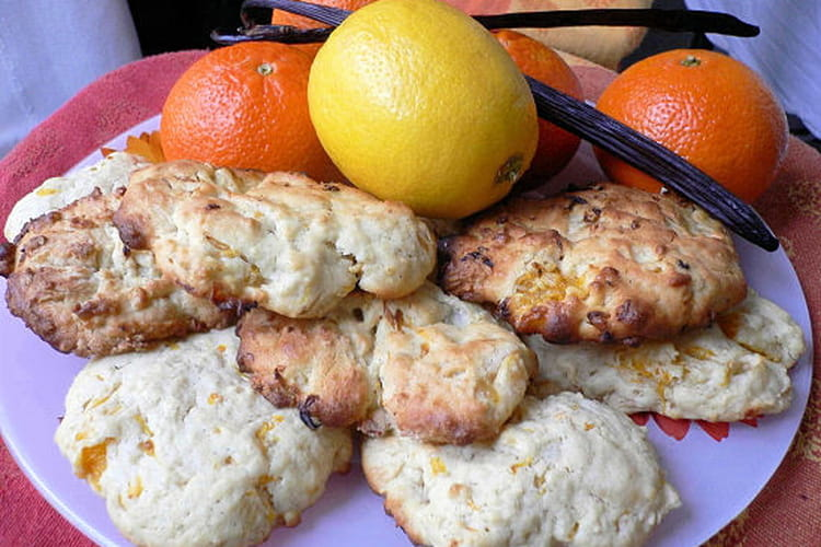 Cookies mandarine-citron à la vanille