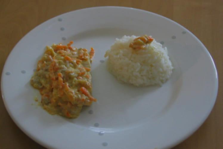 Curry de poisson à la noix de coco, carotte et banane