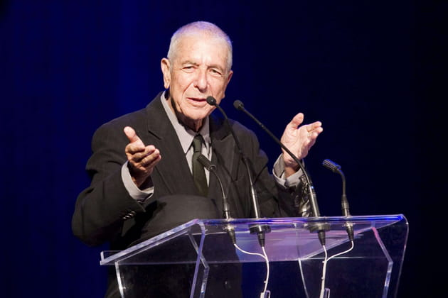 Leonard Cohen reçoit le prix Glenn Gould en 2012